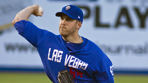 Veteran right-hander Shawn Hill is 6-1 with a 4.50 ERA in nine starts for Las Vegas.