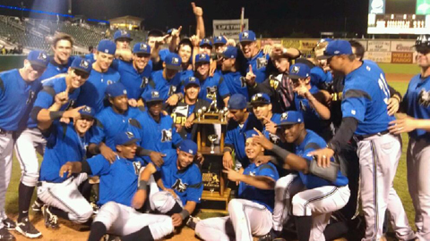 Missoula celebrate its second Pioneer League championship in seven years.